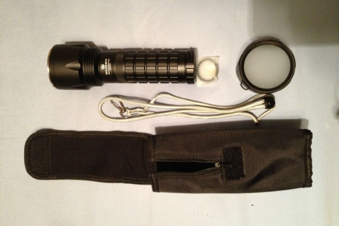 The Olight Intimidator flashlight - a report and review.