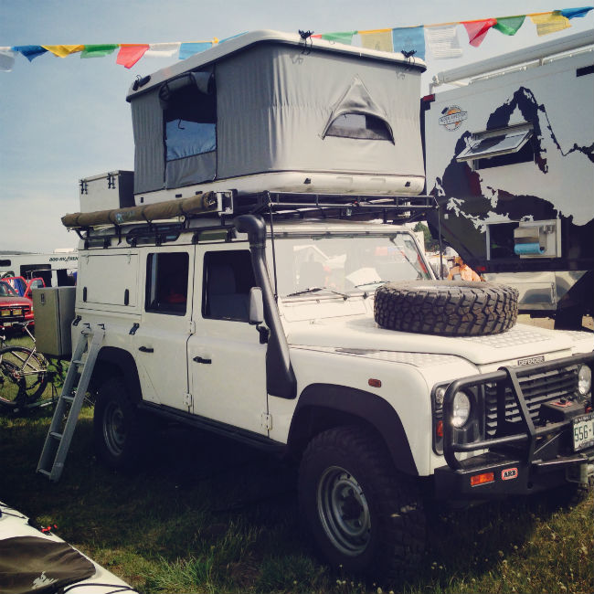 Overland vehicles at the Overland Expo