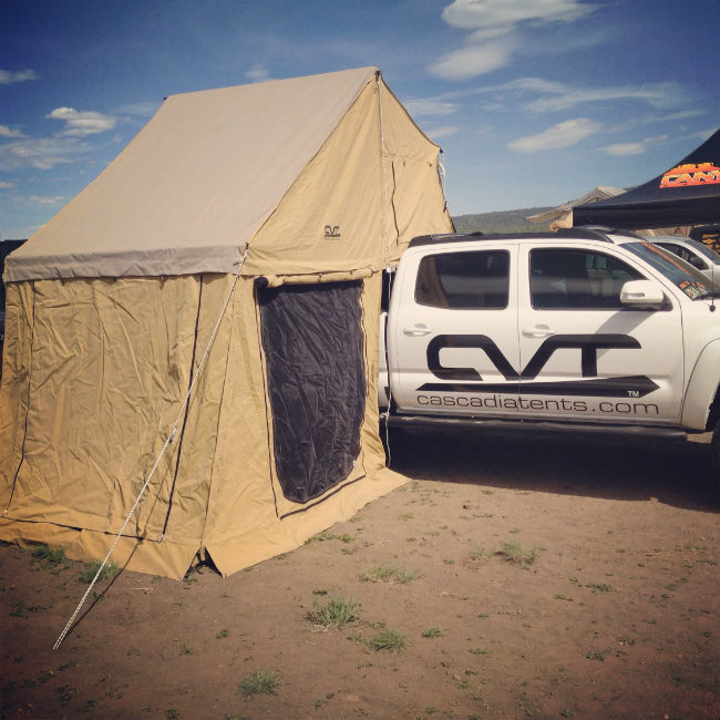 Truckbed tent - just one of the pieces of overland gear at Overland Expo.