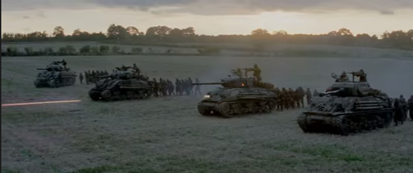 Fury movie Tanks in WWII Tanker Movie Bradd Pitt Breach Bang Clear 1