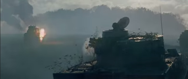 Fury movie Tanks in WWII Tanker Movie Bradd Pitt Breach Bang Clear 4