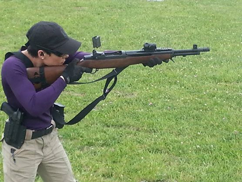 Tatiana Whitlock on the range