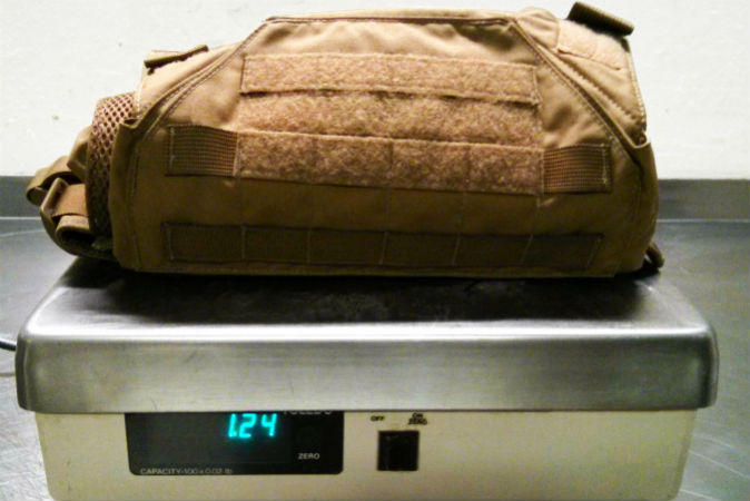 This Grey Ghost plate carrier is extremely lightweight.