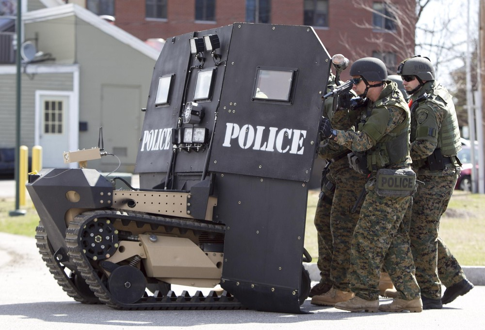 Police Armored Vehicle Breach Bang Clear