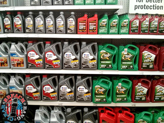 Approximately $14 worth of motor oil