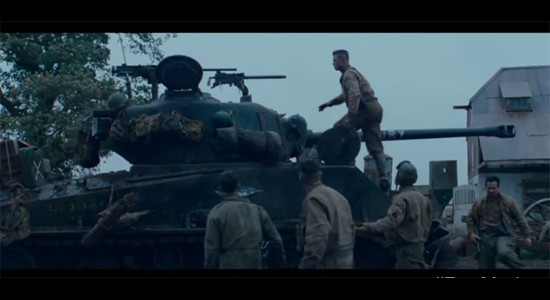 Fury Movie - the crew after their tank is disabled