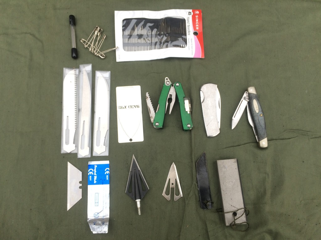 Survival kit series assorted blades
