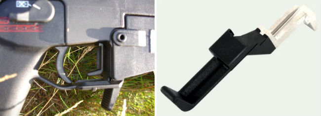 2. Bolt catch lever, extended, 233596