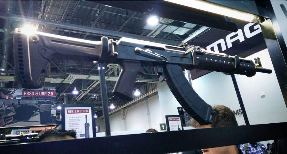 AK Stock - Zhukov Stock - Magpul AK 47 furniture @9bladesphoto at 2016 SHOT Show