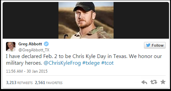 Chris Kyle Day in Texas