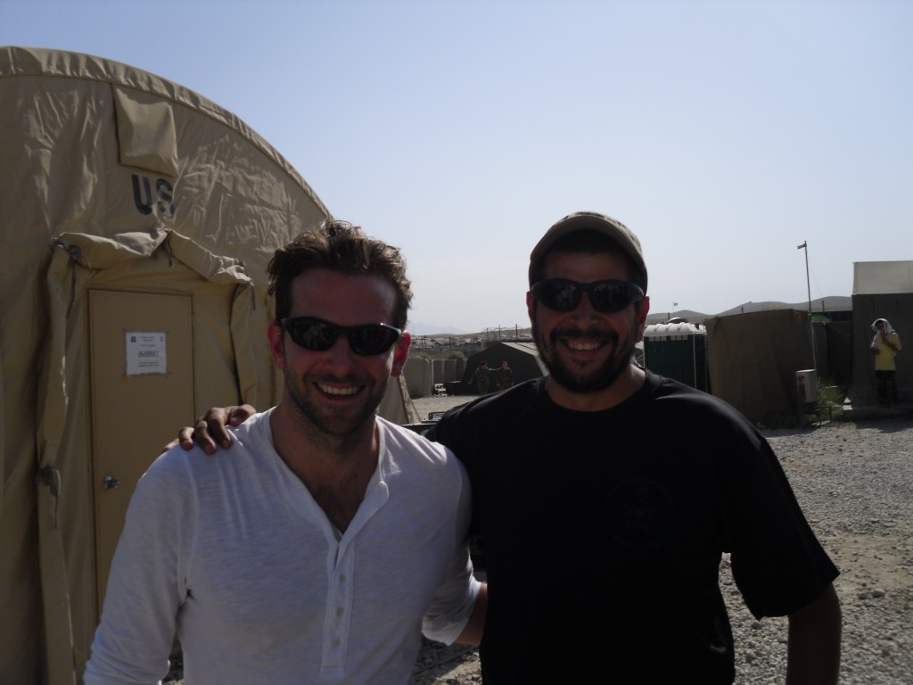 Cooper and me at my firebase in Kapisa Province, Afghanistan. He's about a foot taller than me, but when I said my daughter would make fun of me being so short compared to him he ducked down.