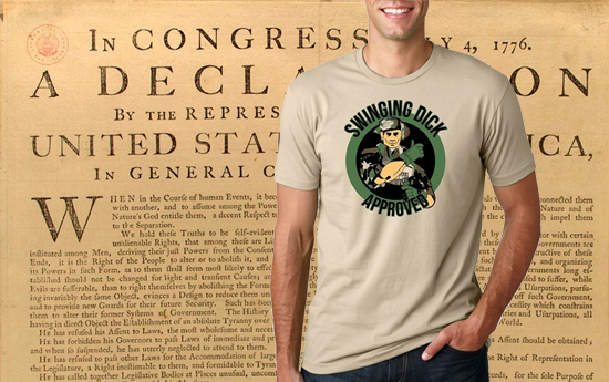 Swinging Dick Approved Shirt US Constitution