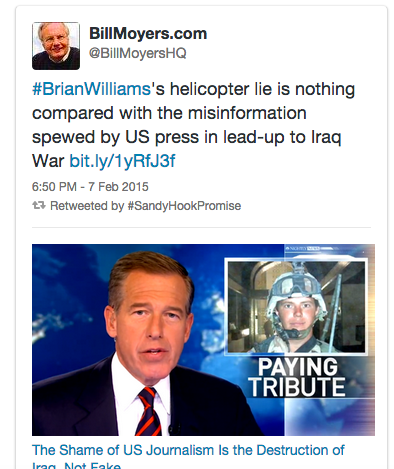 BIll Moyers Justification for Brian Williams