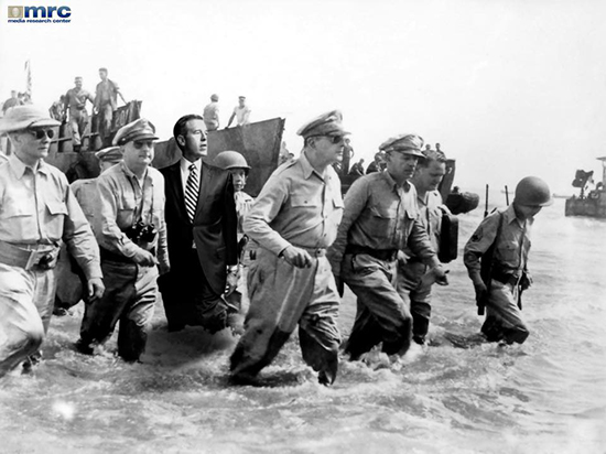 Brian Williams misremembers going ashore with MacArthur