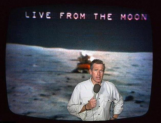 Brian Williams misremembers the moon landing
