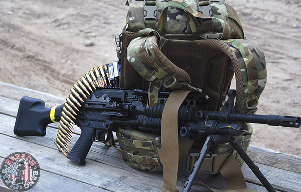 backpack belt fed machine gun