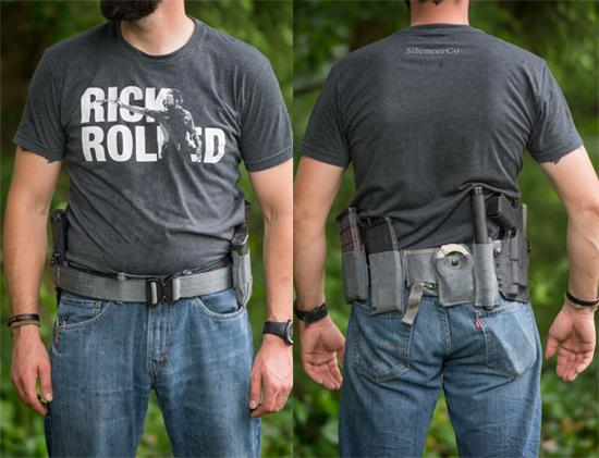 gun belt setup