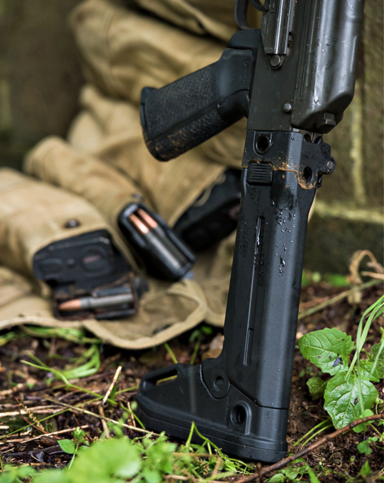 Magpul's Zhukov-S folding stock, extended.