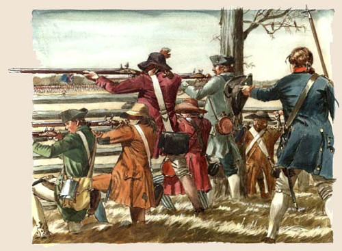 Revolutionary War Militia - by Don Troiani
