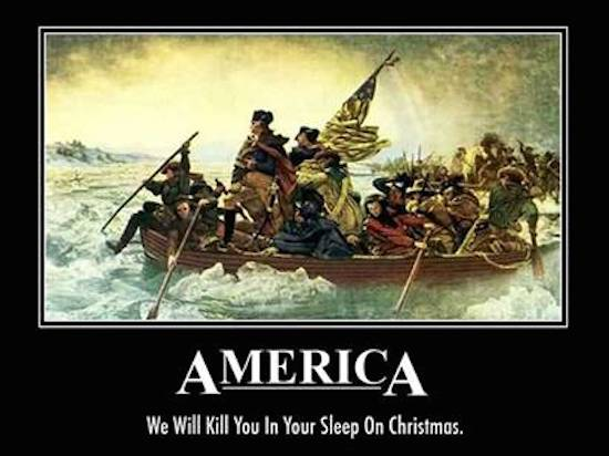 america we'll kill you in your sleep on christmas
