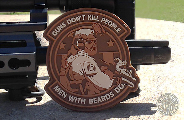 Guns Dont Kill People Men With Beards Do Breach Bang Clear Knife Hand the World 2