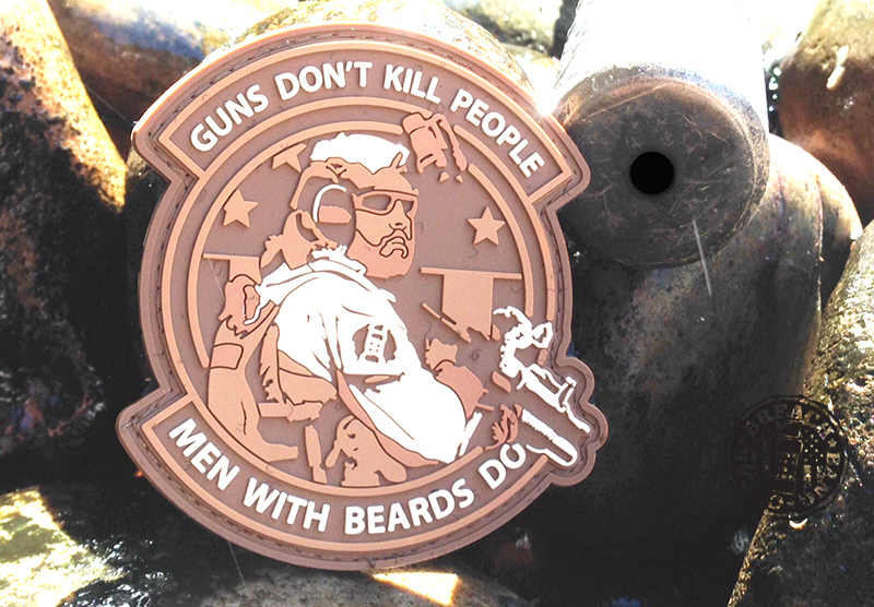Guns Dont Kill People Men With Beards Do Breach Bang Clear Knife Hand the World 5