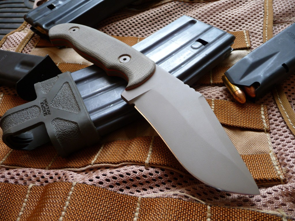 A gorgeous - and beastly - RU Titley fixed blade knife.
