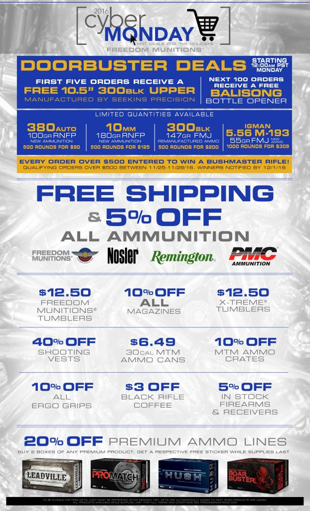 FreedomMunitions2016-CyberMonday-ad