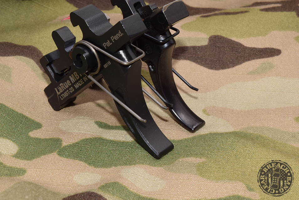 The rifle has been upgraded with a Larue Tactical MBT-2S trigger, an 18