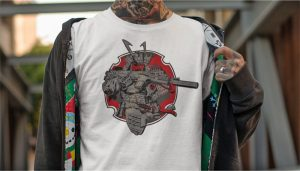 Tactical Samurai Shirt from the Anachrobellum Collection by Mad Duo Co.