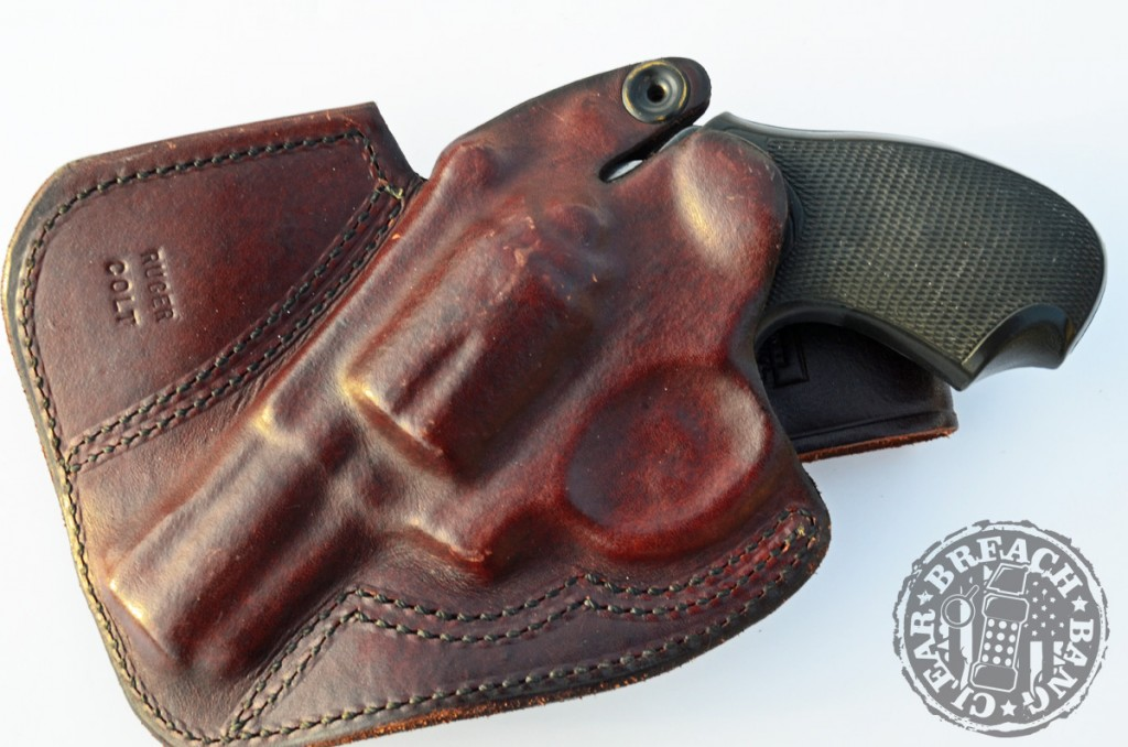 This old Desantis holster, here holding a Dick Special, has seen a lot of use.