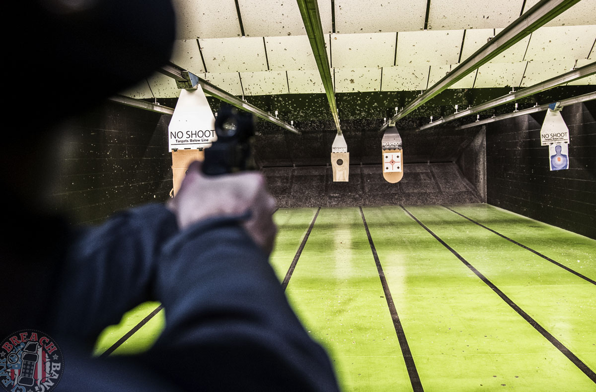 How to train in or on a short range (especially indoor ranges).