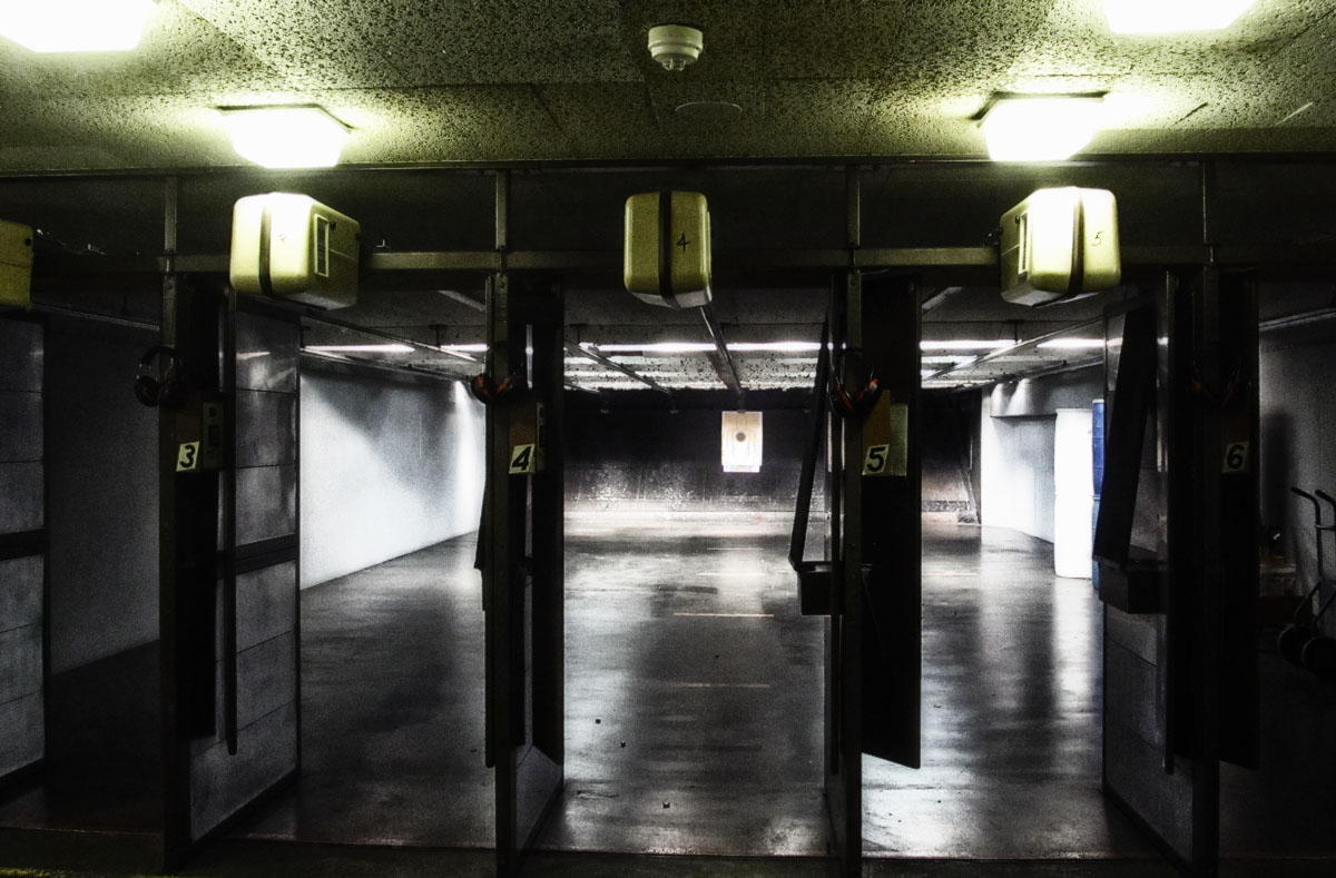 handgun drills indoor range