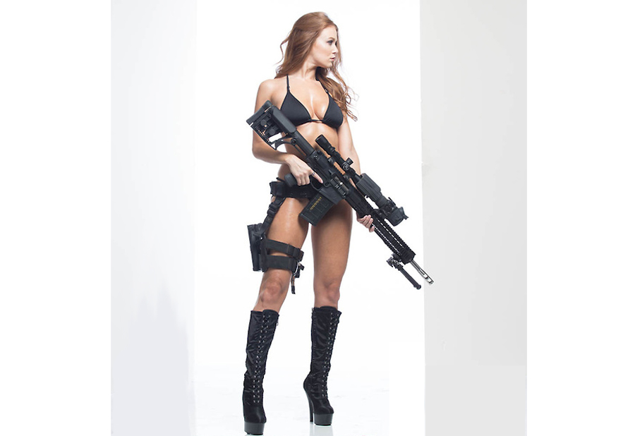 Leanna Decker frequently works with Radical Firearms.
