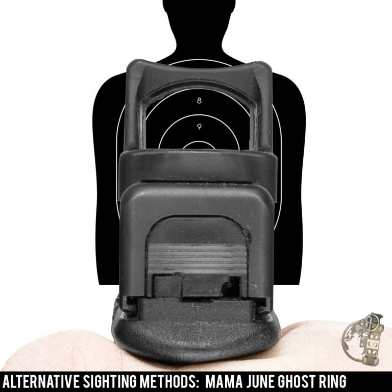 """Alternative sighting methods for a red dot equipped pistol - the """"Mama June Ghost Ring."""""""
