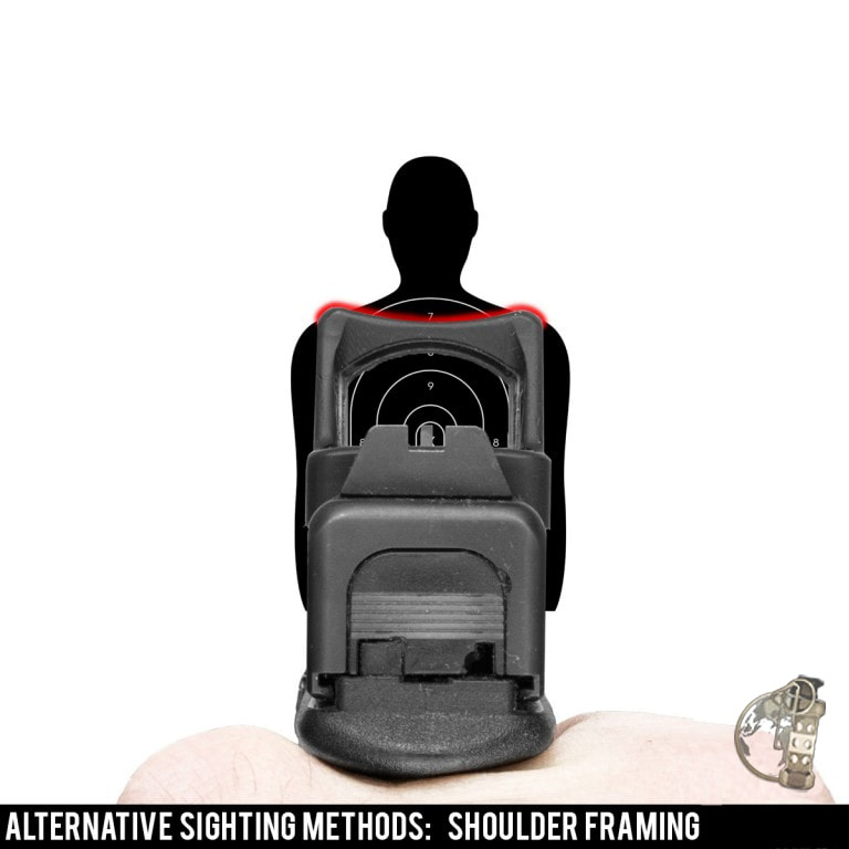 """Red Dot Sights for Pistol - acquiring the dot by using """"shoulder framing."""""""