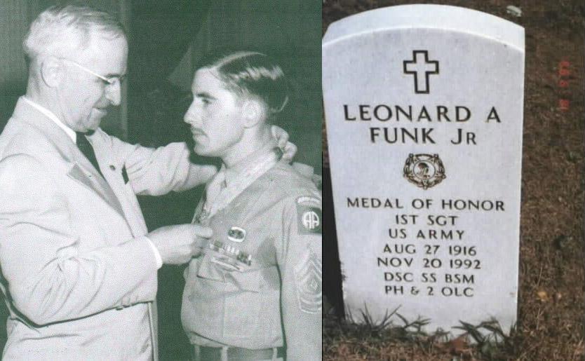 1st Sgt Leonard A Funk Jr., Medal of Honor Recipient