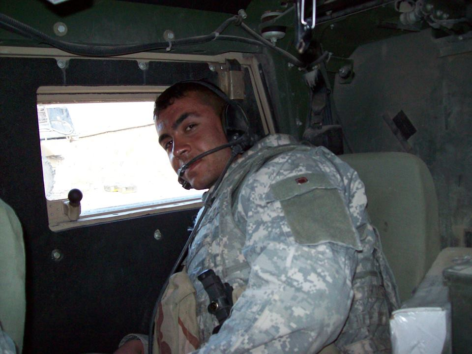 Picture taken inside Chris Hernandez's humvee during the advance into the Alasai Valley.