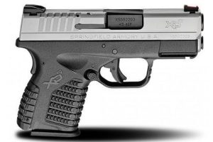 The Springfield XD is a possible choice for a defensive handgun.