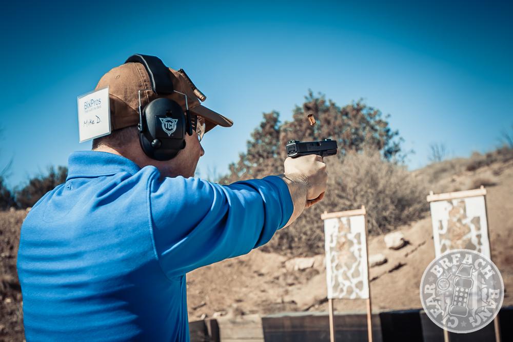 Student on the pistol range Tarani