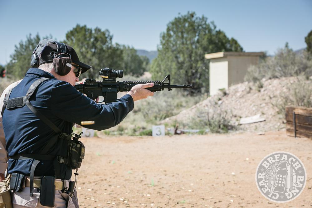 Shooting El Prez with a carbine
