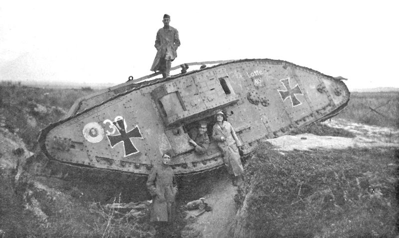 French Schneider tanks and St. Chamond tanks were little better than their German AV7 counterparts.