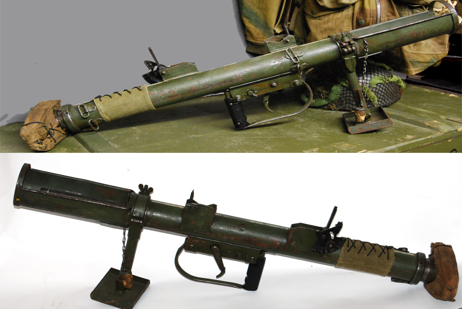 The PIAT gun: Projector, Infantry, Anti Tank.