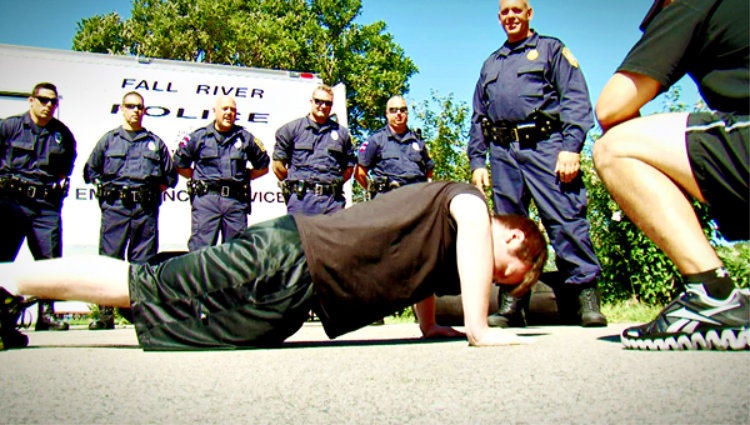 The physical fitness tests measure strength, endurance, and agility activities. Image source: lawenforcementjock.com
