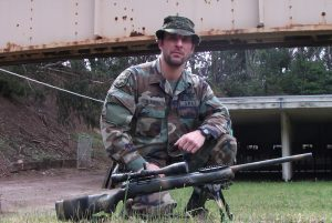 """A story of Negligent Discharge - Nick Perna with his """"musket."""""""