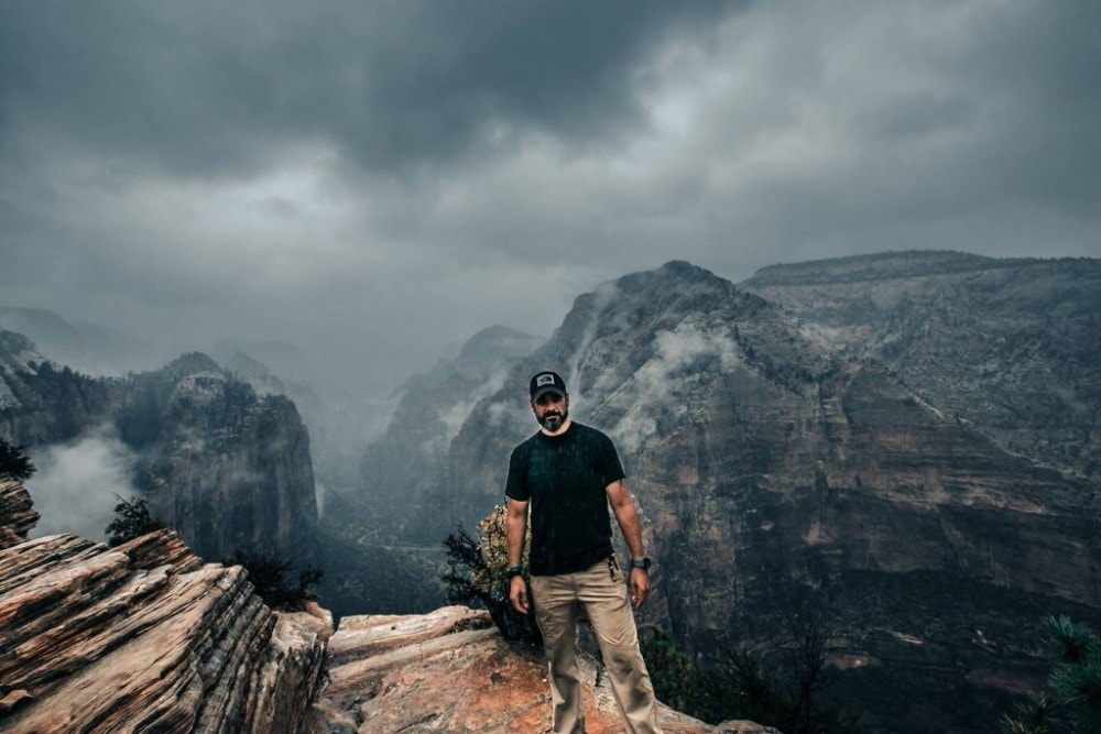 Propper tactical pants in Zion National Park
