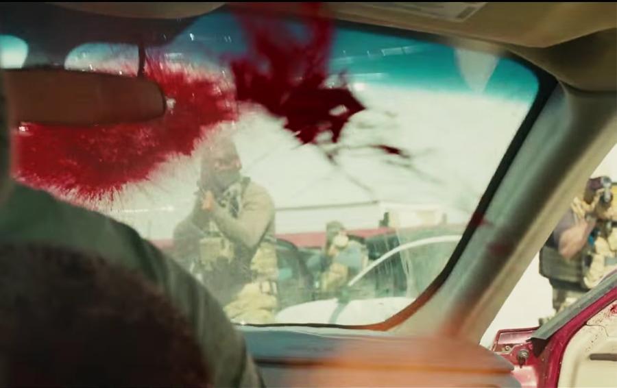 The famous bridge scene from Sicario - starring Emily Blunt, Josh Brolin, and Benicio del Toro.
