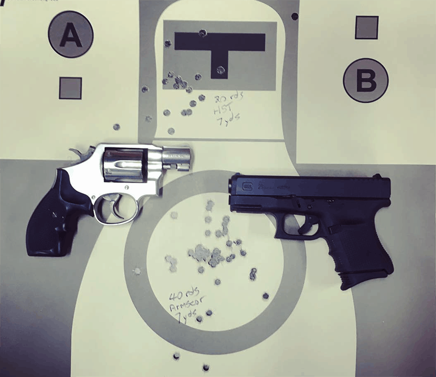 You can train on a budget, and should; paper shooting targets are relatively inexpensive and low round count pistol shooting drills can be very beneficial.