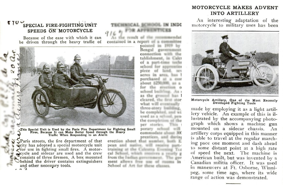 motorcycle sidecar history