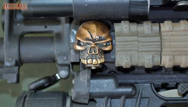 Steel Flame Rail Skull